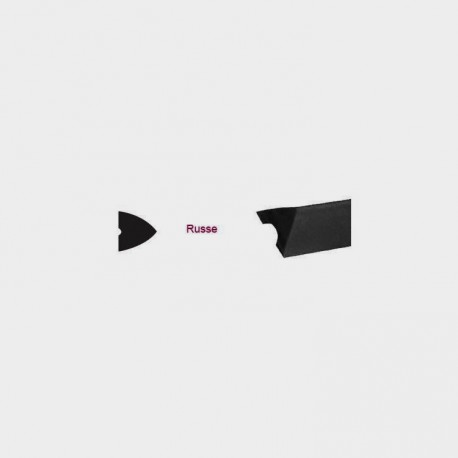 Bande Triang.noir 14mm