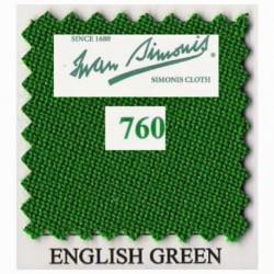 Kit tapis Simonis 760 7ft UK English Green