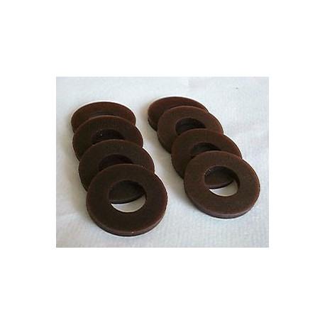 Rondelles courbhane Baby-Foot Bonzini (remplace rondelle cuir ) Le lot de 8 pièces