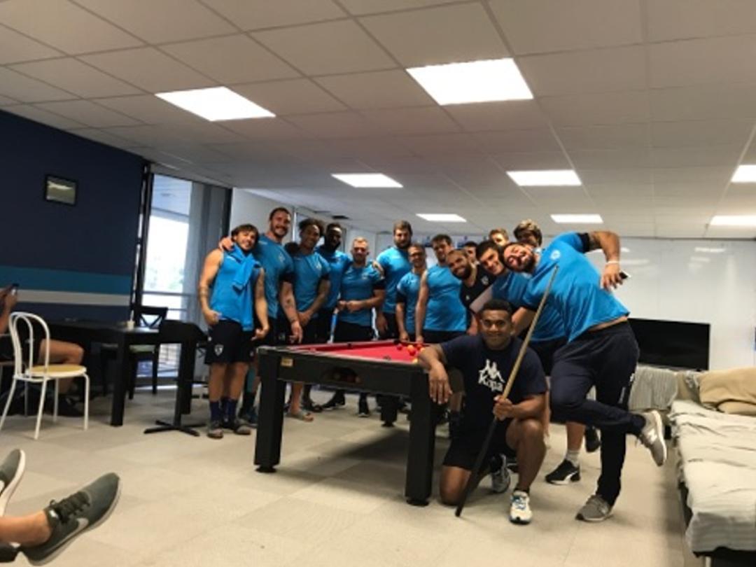 Equipe de Rugby de Montpellier équipé d'un Billard BMV